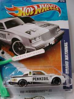 2011 i Hot Wheels BUICK GRAND NATIONAL #139★New WHITE★Pennzoil
