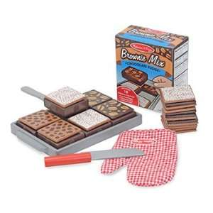 Pack MELISSA & DOUG WOODEN BAKE & SERVE BROWNIE SET