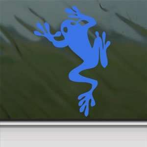 Tree Frog Amphibian Climbing Blue Decal Window Blue