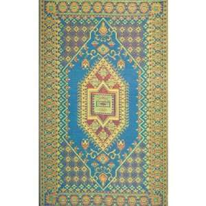 Area Rug or Kitchen Mat 6 x 9 Turkish Aqua Patio Indoor Outdoor Rugs