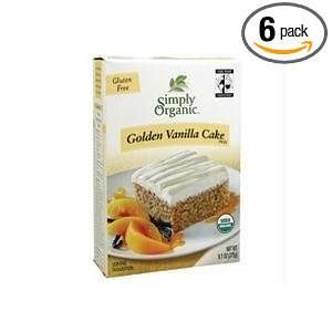 Simply Organic Golden Vanilla Cake Mix Grocery & Gourmet Food
