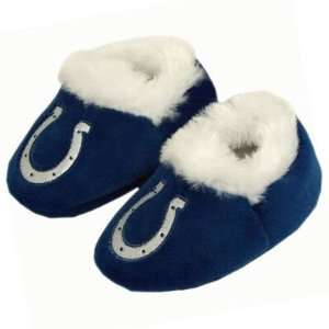 INDIANAPOLIS COLTS OFFICIAL LOGO BABY BOOTIE SLIPPERS 12