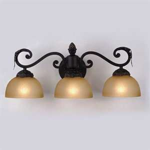 Meyda Tiffany Savannah Vanity Light, Gold Washed Bronze