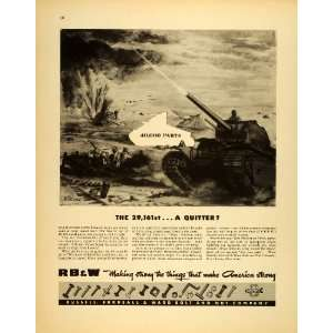 Nut WWII War Production Army Tank   Original Print Ad