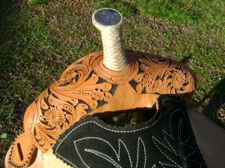 15 QUICK TURN WESTERN BARREL RACER RACING SHOW SADDLE HAND PAINTED
