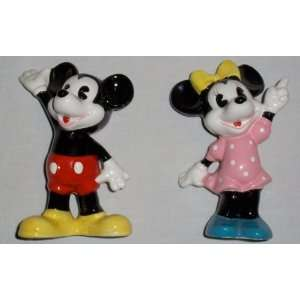 Walt Disney Mickey and Minnie Mouse Ceramic Figurines