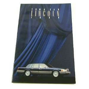 1990 90 Lincoln TOWN CAR BROCHURE Signature Cartier