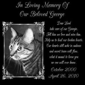 Gifts Personalized Black Granite Pet Memorial Marker Style George Pet