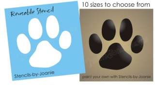 Paw Print STENCIL Dog Puppy Animal Pet Kennel Dogs Sign