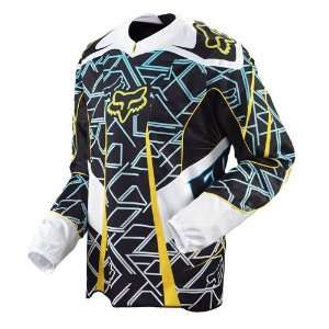 FOX RACING PLATINUM JERSEY BLUE/YELLOW L Sports