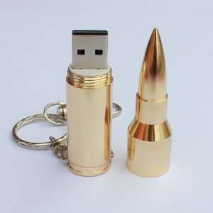 Metal Bullet Shape USB Flash Stick Memory Drive flash