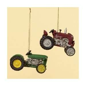 Red Farm Tractor Christmas Ornaments 2.5 by Gordon