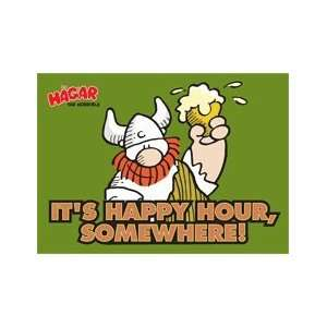 Hagar The Horrible Happy Hour Somewhere Magnet HM2327