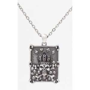 Skull Pocker   Led free Pewter Jewelry Necklace Collection