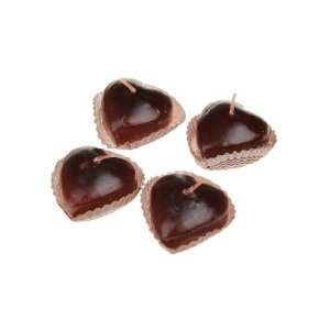 Artwedding Mini Heart Shaped Chocolate Cake Candle (2