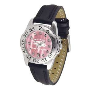 Nevada Wolf Pack NCAA Mother of Pearl Sport Ladies Watch (Leather