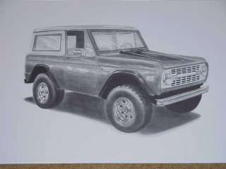 EARLY FORD BRONCO LIMITED EDITION ARTWORK   SIGNED