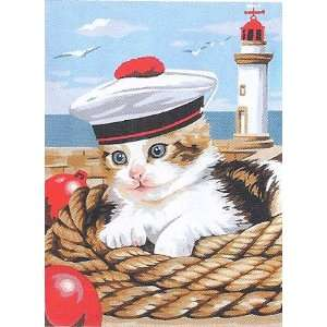 LE PETIT MARIN NEEDLEPOINT CANVAS Arts, Crafts & Sewing