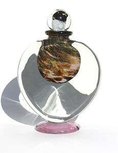 JEAN CLAUDE NOVARO HAND BLOWN GLASS VASE EXTRA LARGE PERFUME BOTTLE