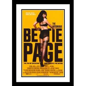 The Notorious Bettie Page 32x45 Framed and Double Matted Movie Poster