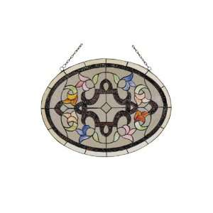 Dale Tiffany SC0065 Quigley Art Glass Window Panel , 24