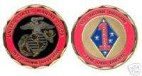 USMC MARINE CORPS 1ST DIV GUADALCANAL CHALLENGE COIN