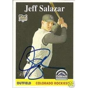 Pirates Jeff Salazar Signed 2007 Topps Heritage Card
