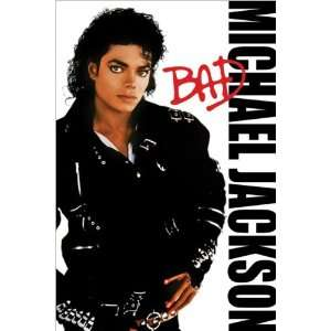 Michael Jackson Bad Album Cover, Music Poster Print, 24 by