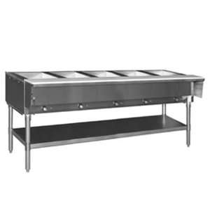 Eagle Group HT5 LP 1X Hot Food Table 5 Wells 79 Length Galvanized