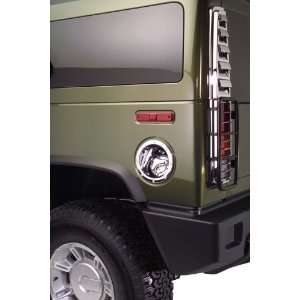 Chrome Fuel Door Cover   Silver, for the 2005 Hummer H2 Automotive