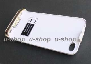 For Apple iPhone 4S 4 4G Rechargeable External Backup Battery Case