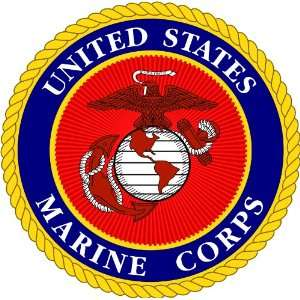 3.8 US Marine Corps Seal Decal Sticker
