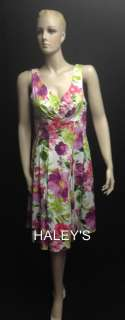New Jessica Howard Size 10 Sleeveless Dress Floral Print Cruise Wear