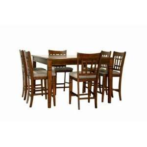 Lemberger 7 Piece Pub Table Set in Antique Finish