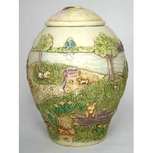 Rainbow Bridge Large Pet Dog Urn