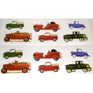 Fire Engines Wall Decals Stickers, Set of 12