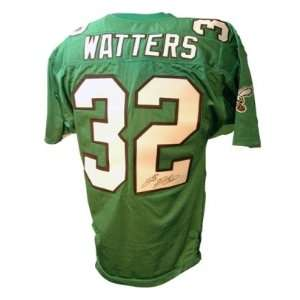 Ricky Watters Eagles Green t/b Signed Jersey Sports