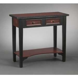 Console Table in Red Flower
