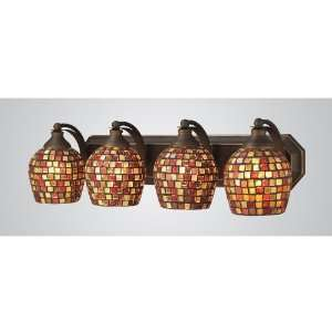 Lighting 4 Light Aged Bronze Contemporary Bathroom Vanity Light