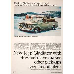1965 Ad Jeep Gladiator Kaiser Snow Winter Toledo Ohio Pickup Truck Hay