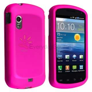 Hot Pink Rubberized HARD Case Snap on Phone Cover for Samsung
