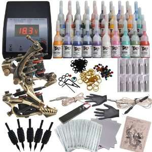 Tattoo Kit with 2 Handmade Tattoo Machine Gun and 40 Color ink DVK 4