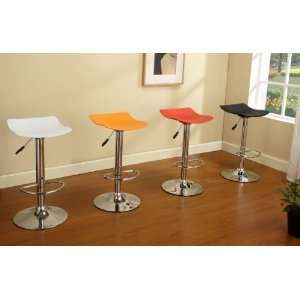 & Chrome Finish Air Lift Adjustable Modern Bar Stool