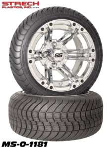 ITP 12 SS212 Wheel 205/30/12 Low Pro Tire Golf Cart Chrome