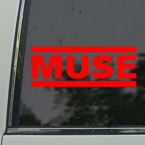 MUSE Red Decal Rock Band Car Truck Bumper Window Red