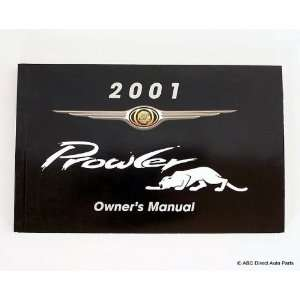 2001 Chrysler Prowler Owners Manual Guide Book Chrysler Books