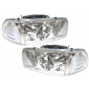 02 05 GMC SIERRA PICKUP DENALI EURO PROJECTOR HEADLIGHT TRUCK, one set