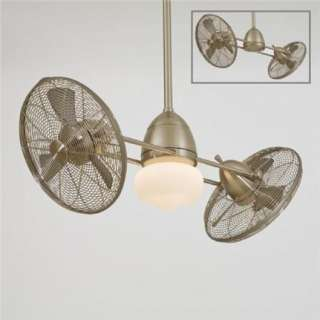 Minka Aire Nickel Gyro Outdoor Ceiling Fan F402 BNW