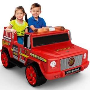 Kid Motorz Fire Engine Two Seater Battery Powered Riding Toy 12 Volt