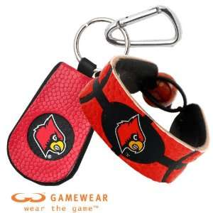 Louisville Cardinals Team Color Basketball Bracelet and Louisville
